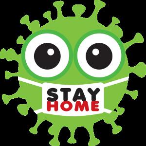 coronavirus, stay home, symbol