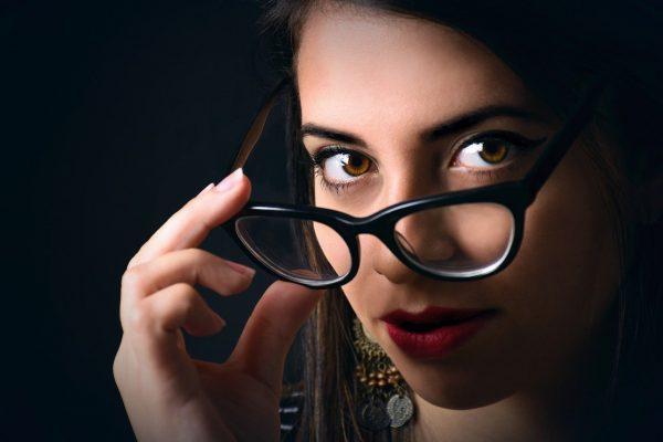 women, glasses, face